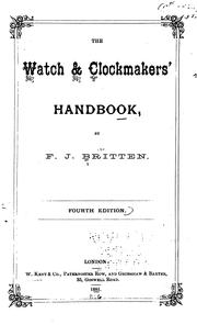 Cover of: The Watch & Clockmakers