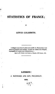 Cover of: Statistics of France | Lewis Goldsmith