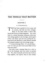 Cover of: The Things that Matter | Francis Henry Gribble