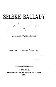 Cover of: Selské ballady