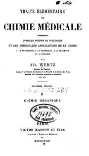 Cover of: Traite elementaire de chimie medicale; v. 2