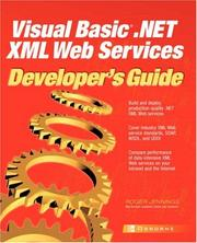 Cover of: Visual Basic .NET XML web services developer's guide