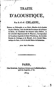 Cover of: Traité d'acoustique