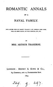 Cover of: Romantic annals of a naval family |