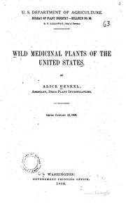 Cover of: Wild Medicinal Plants of the United States