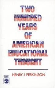 Cover of: Two hundred years of American educational thought