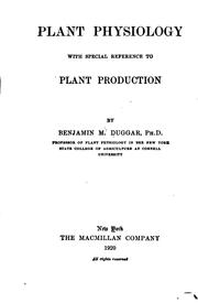 Cover of: Plant Physiology: With Special Reference to Plant Production |
