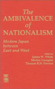 Cover of: The Ambivalence of nationalism |