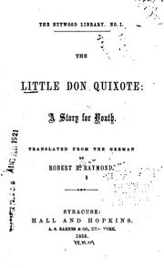 Cover of: The Little Don Quixote: A Story for Youth. |