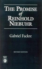 Cover of: The promise of Reinhold Niebuhr