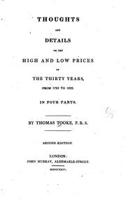 Cover of: Thoughts and Details on the High and Low Prices of the Thirty Years, from ..
