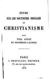 Cover of: Étude sur les doctrines sociales du christianisme