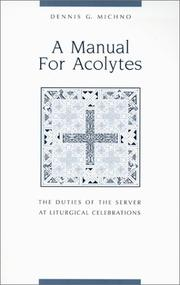 Cover of: A manual for acolytes
