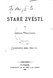 Cover of: Staré zvěsti