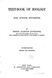 Cover of: Text-book of zoology for junior students
