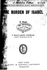 Cover of: The Burden of Isabel: A Novel |