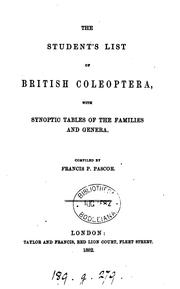Cover of: The student's list of British coleoptera