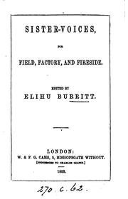 Cover of: Sister-voices, for field, factory, and fireside