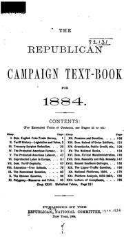 The Republican Campaign Text Book for 1884. ... by