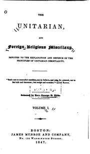Cover of: The Unitarian, and Foreign Religious Miscellany