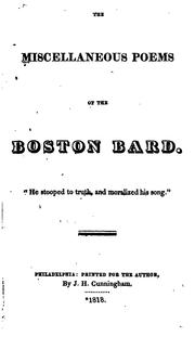The Miscellaneous Poems of the Boston Bard