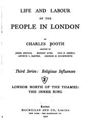 Cover of: 2. London north of the Thames: the inner ring