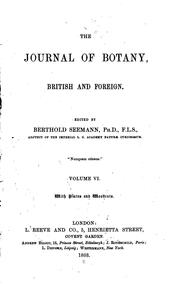Cover of: Journal of Botany, British and Foreign |