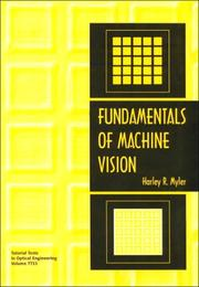 Cover of: Fundamentals of machine vision