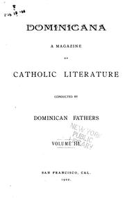 Cover of: Dominicana: A Magazine of Catholic Literature |