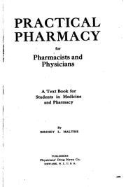 Cover of: Practical Pharmacy for Pharmacists and Physicians: A Text Book for Students ... |