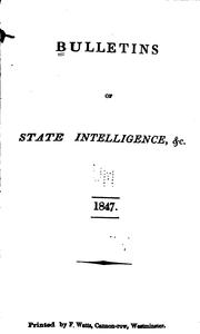 Cover of: Bulletins and Other State Intelligence |