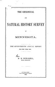 Cover of: Annual Report - Geological and Natural History Survey of Minnesota |