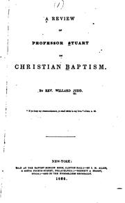 Cover of: A Review of Professor Stuart on Christian Baptism |