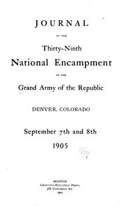 Cover of: Journal of the ... National Encampment |