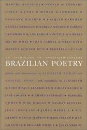 Cover of: An anthology of twentieth-century Brazilian poetry. | Elizabeth Bishop