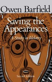 Cover of: Saving the appearances