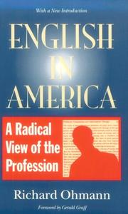 Cover of: English in America | Richard M. Ohmann