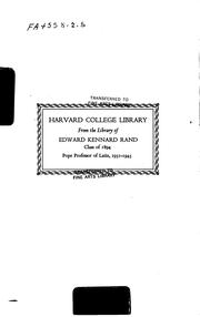Cover of: Handbook of the Classical Collection |
