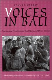 Cover of: Voices in Bali | Edward Herbst