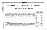 Cover of: Sections of Steel and Iron Rails, Manufactures by Cambria Iron Company ... |