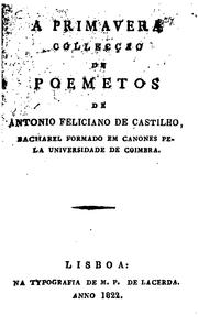 Cover of: A primavera, collecção de poemetos