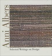 Cover of: Anni Albers
