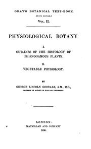 Cover of: Physiological Botany |