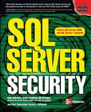 Cover of: SQL Server Security