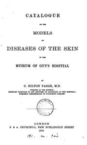 Cover of: Catalogue of the models of diseases of the skin in the museum of Guy's hospital