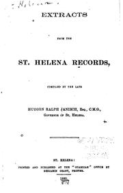 Cover of: Extracts from the St. Helena Records by