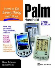 Cover of: How to do everything with your Palm handheld | Johnson, Dave