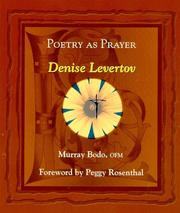 Cover of: Poetry as prayer