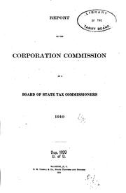 Cover of: Report of the Corporation Commission as a Board of State Tax Commissioners |