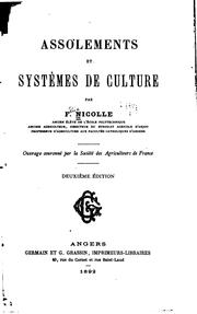 Assolements et systèmes de culture by